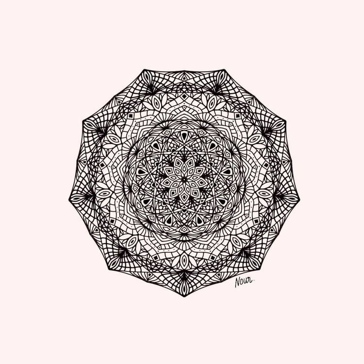 mandala practice. repost - artsenciel | ello