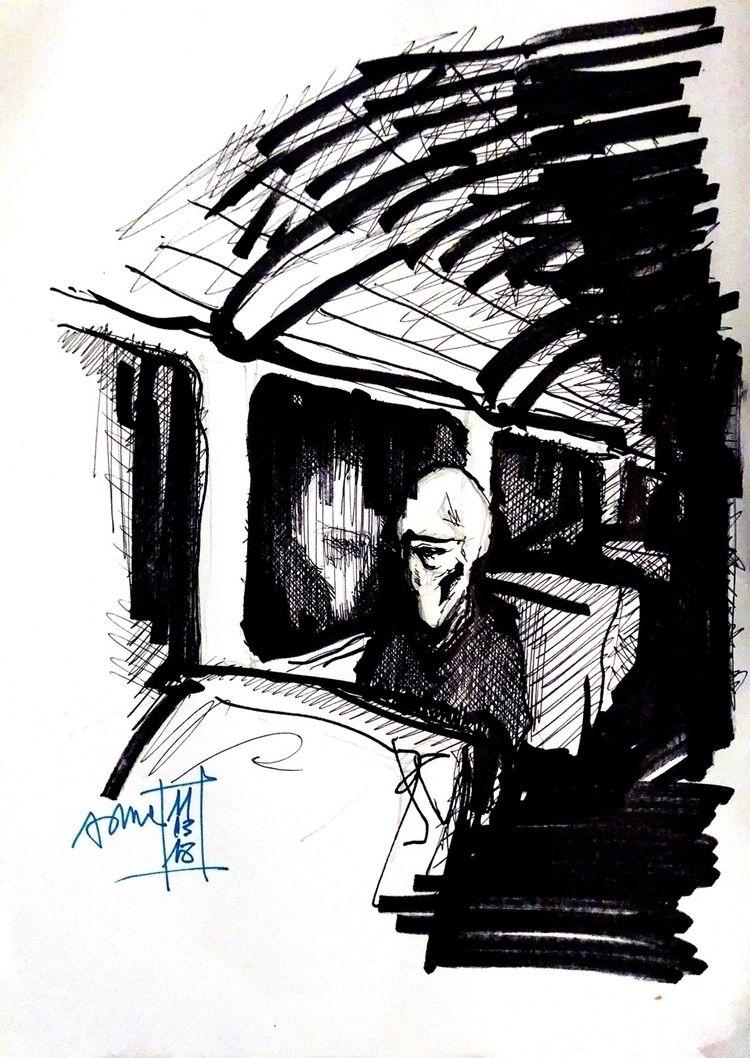 sketch, loneliness - s_m_a | ello