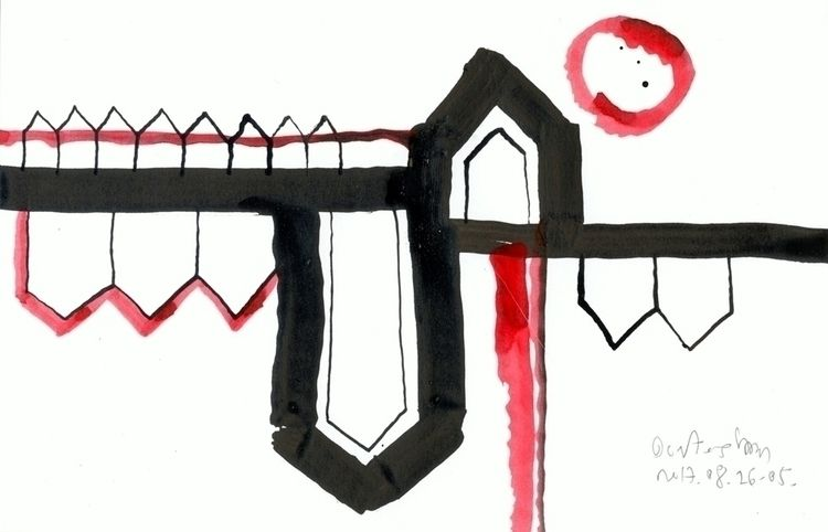 Red Black Houses 04 drawings/pa - istvanocztos | ello