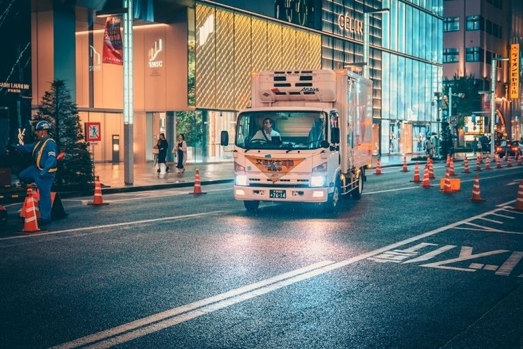 Late night road works...  - tokyo - fokality | ello
