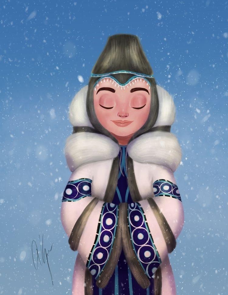 Snow Princess - characterdesign - amberkrueger | ello