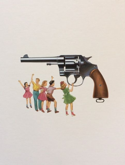Arm teachers - guns, collage, vintage - danielletcole | ello