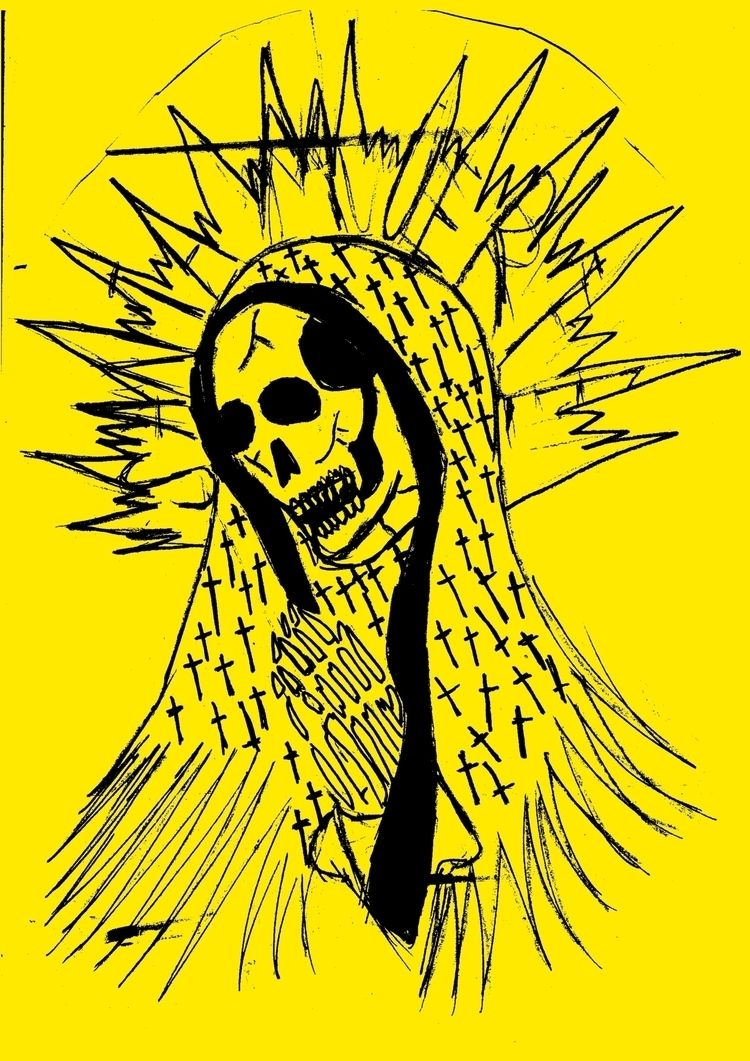 illustration, santamuerte, mexico - lazybastard | ello