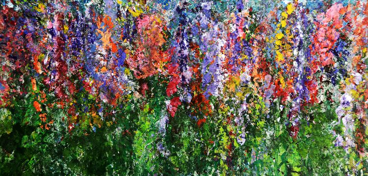 Wildflowers. Created Acrylic pa - robbiekaye | ello