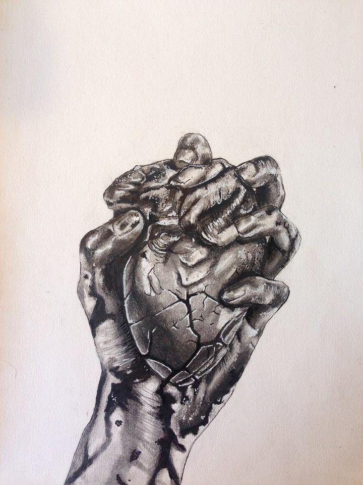 Hold Heart Hands (SOLD) 2018 7i - alexismarhanka   ello