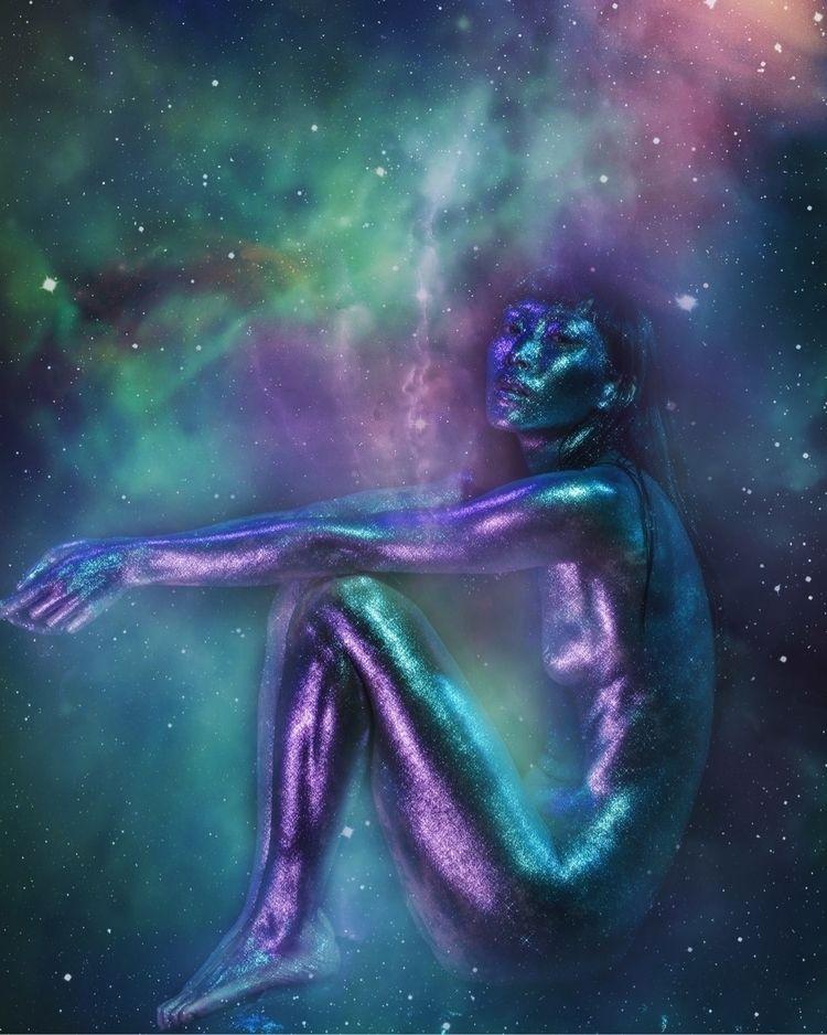feet. sense exist - stars, Universe - elenakulikova | ello
