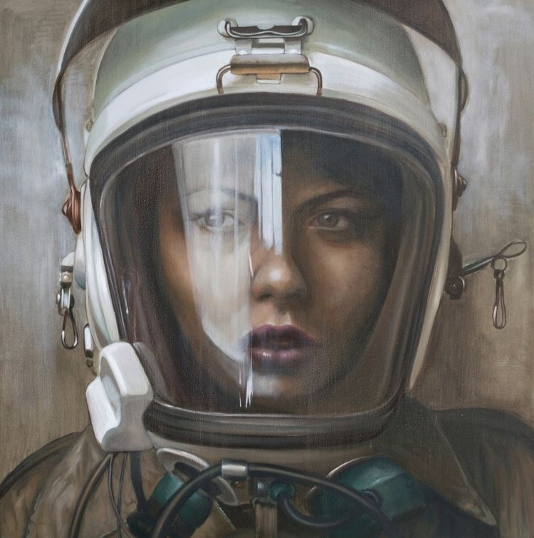 Unknown, oil linen 2018. shown  - kathrinlonghurst | ello