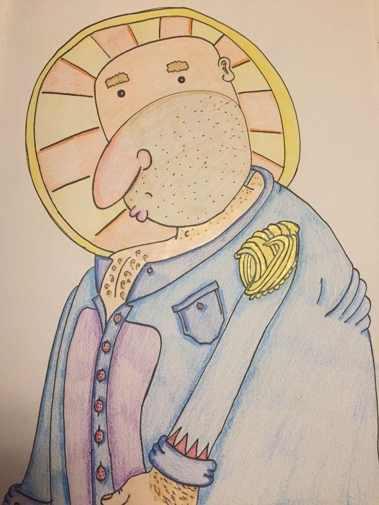 Saint transformed scribble. Mar - magiccottageart | ello