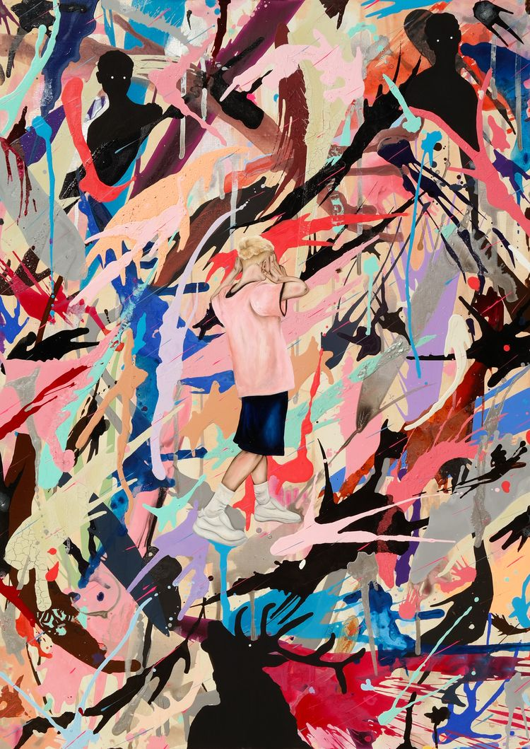 leave 100 70 cm mix canvas 2018 - ramonnvieitez   ello