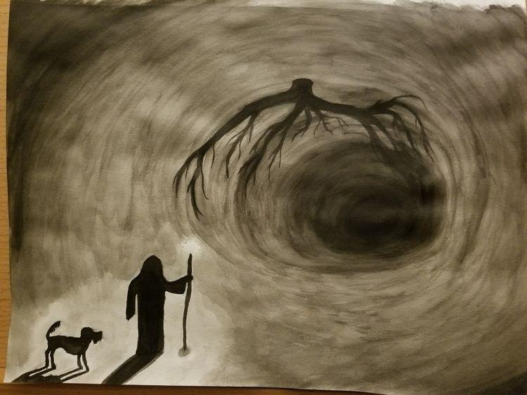 dog find ball - sketch, sketchbook - ebo_draws   ello