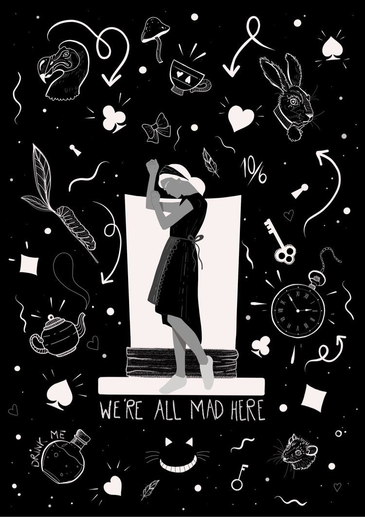 Alice - illustration, art, artist - carinalindmeier | ello