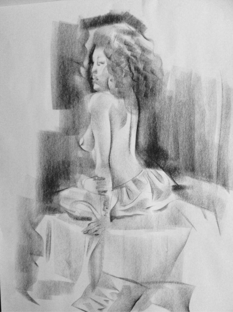 Life drawings couple years - charcoal - martinx | ello