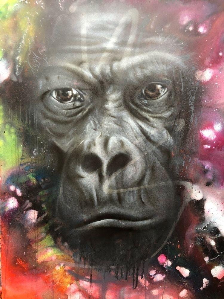 elloart, nature, painting, gorilla - volaneart | ello