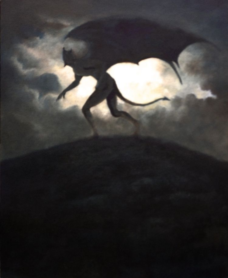 devil stands transfixed moon. O - clivebarrett | ello