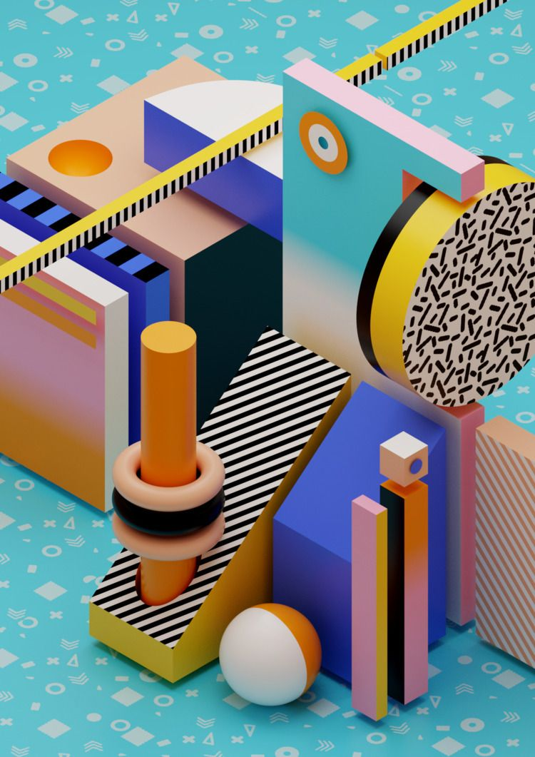 3D, b3D, graphicdesign, abstract - ikyste | ello