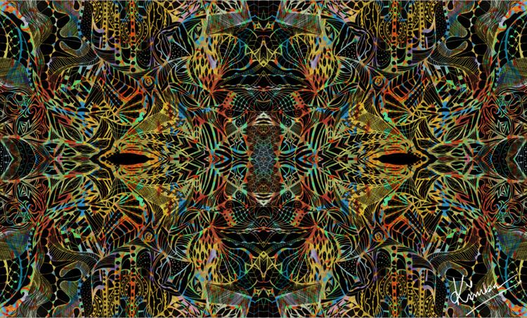 kimbaart, abstract, mixmedia - kimbahanghal   ello