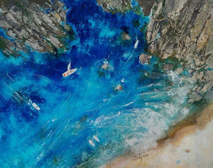 Deep Blue. Acrylic Canvas, 80x1 - natashapevzner | ello