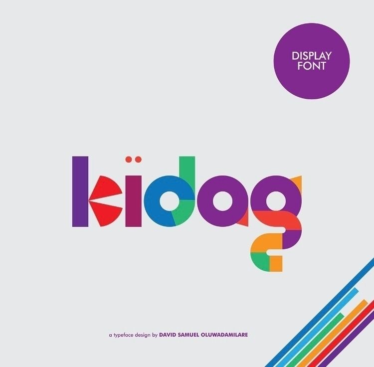 KIDAG FONT feel happy kids love - iamdavidsamuel | ello