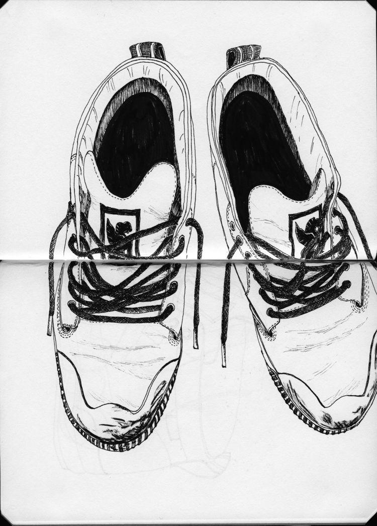 sketching 🖤 - sketch, illustration - followthewhiterabbi | ello