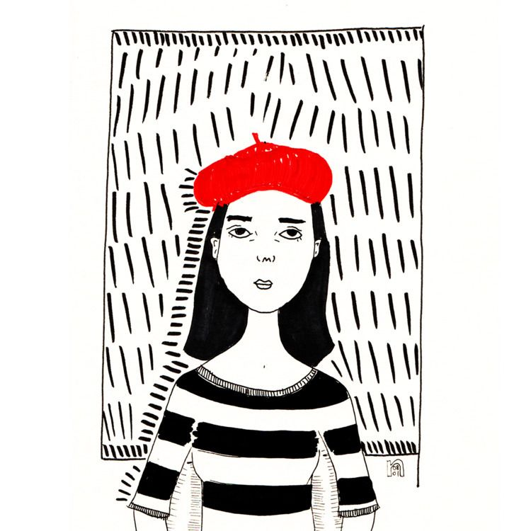 Beret - illustration, illustrator - nigli | ello