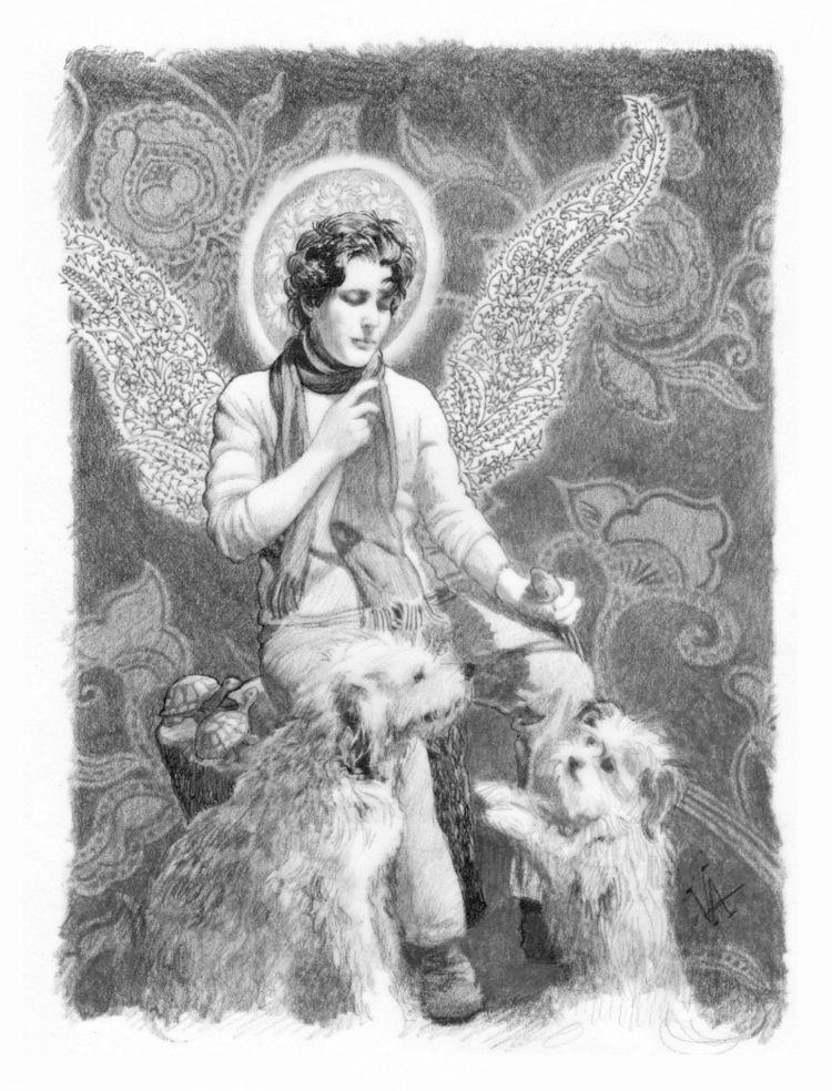 St Lisa blessing toads. friend  - vawalker | ello