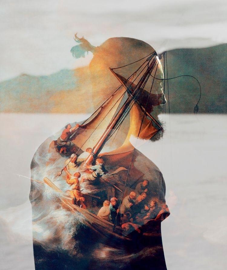 'Storm sea galilee' Mixing famo - samscasso | ello