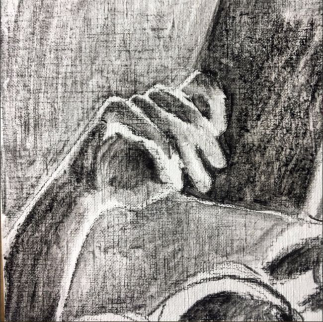quick hand study larger paintin - blflood | ello