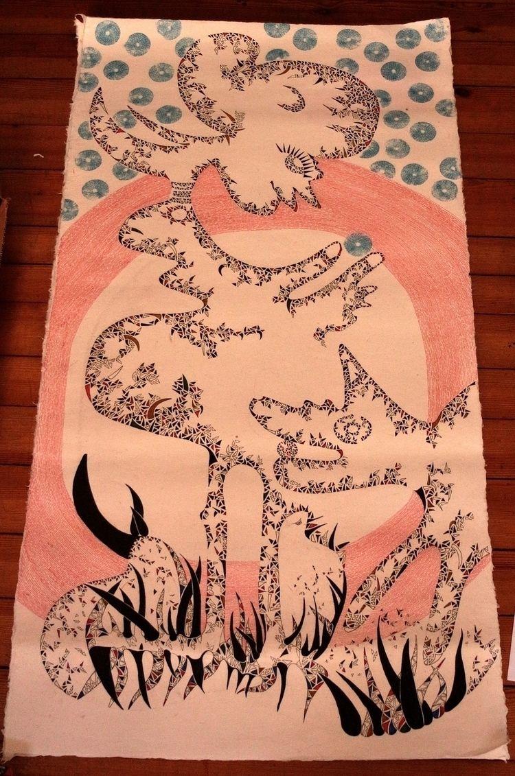 drawing dragon paper 70x1,40 /  - hana_sitsheaven | ello