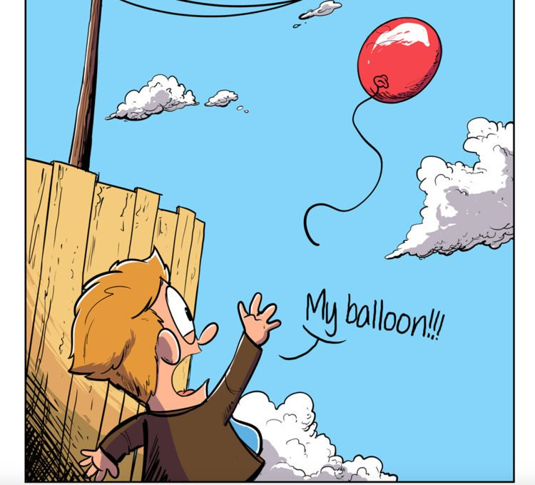 balloon trouble - comic - neilkohney | ello
