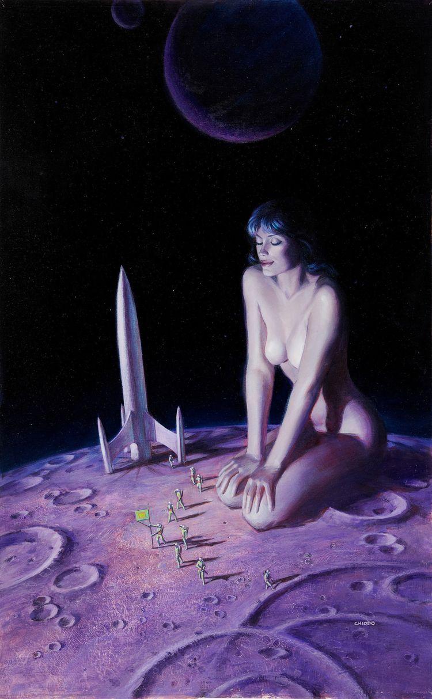 scifi, space, nude, pinup, nsfw - ukimalefu | ello