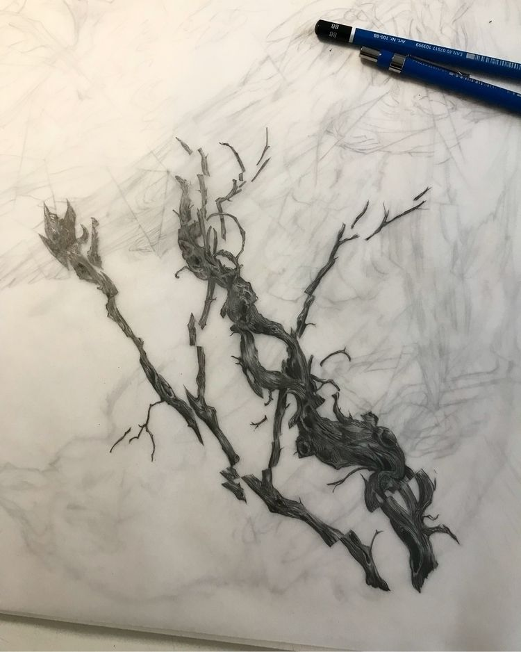 Ancient branches. Book 7 work p - michaelhenleyart | ello