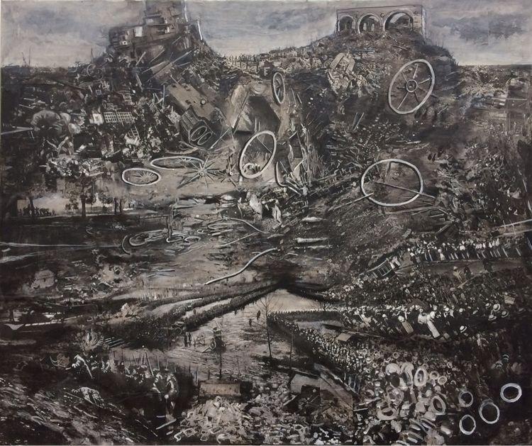 la guerre Collage/acrylics canv - zuid | ello
