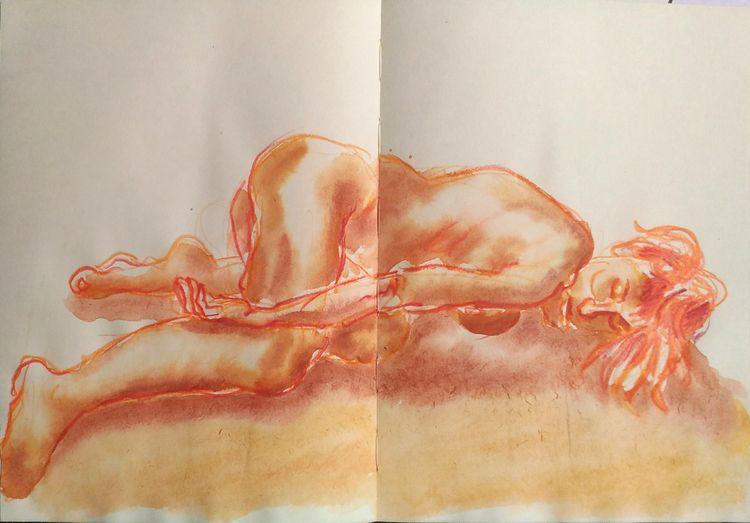 Red Emily, pencil watercolor pa - pfelelep | ello