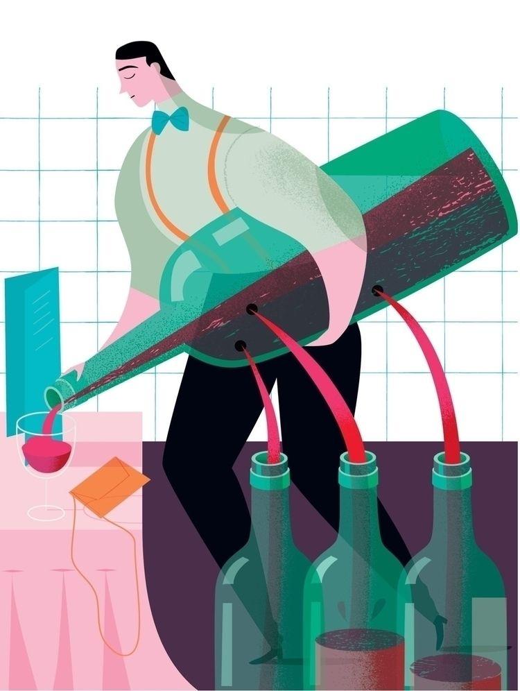 Pouring charging - wine, restaurant - studiogarcia | ello