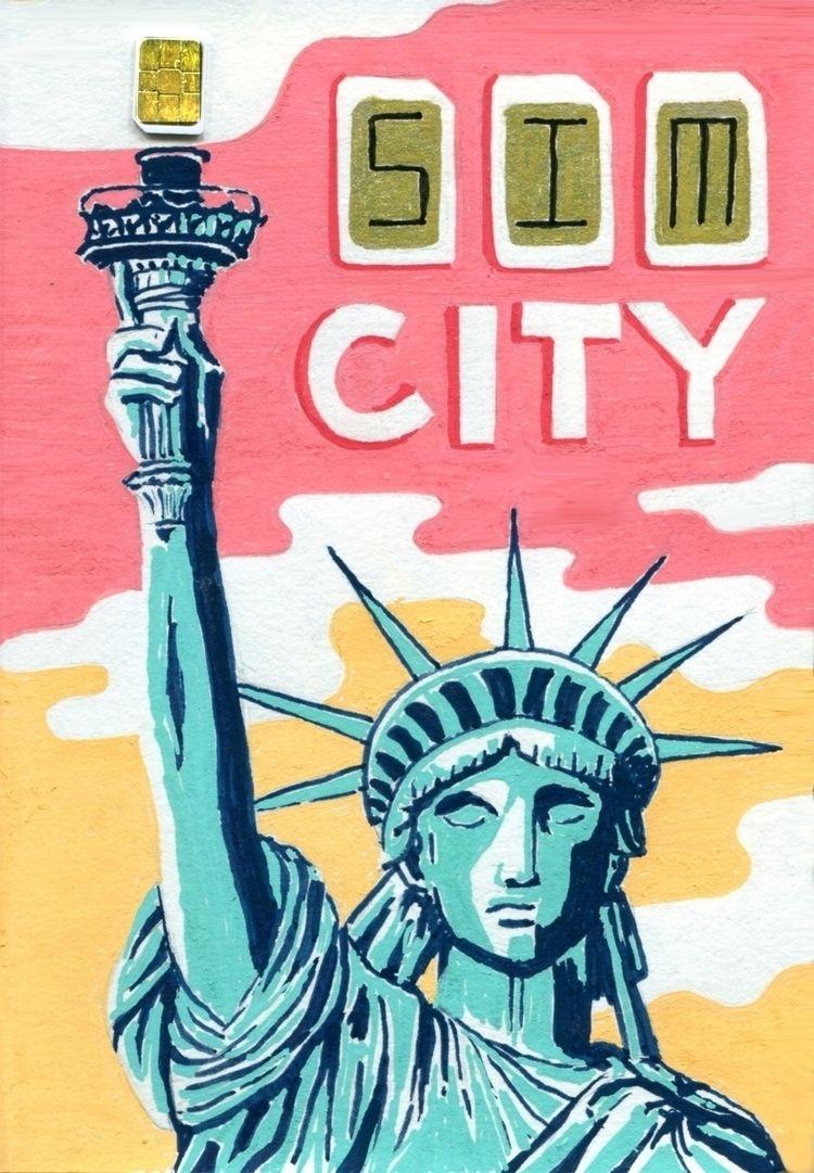 SIM City. Acrylic A6 sketchbook - juanjogasp | ello
