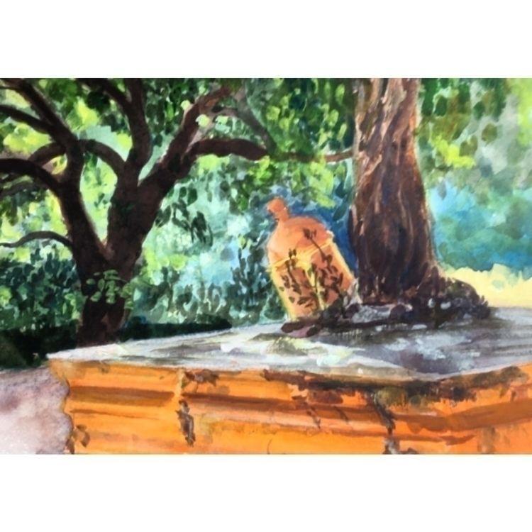 India, Goa.  - watercolour, guache - yuliavirko | ello