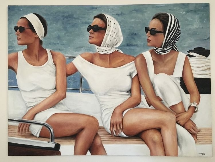 Fashionably Yacht ~ oil canvas  - michibroussard | ello