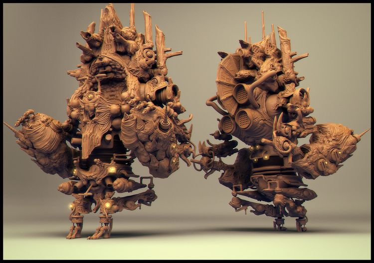 Mountian Mech - mech, 3d, cg, sculpture - rothwelljack | ello
