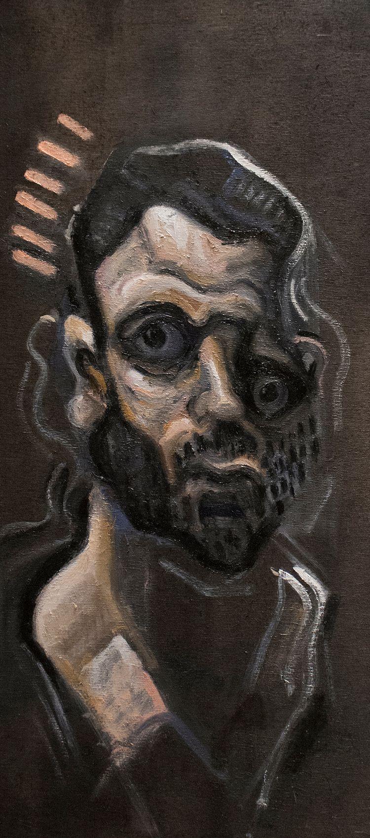 Anodyne Portrait) / Oil Wood 26 - armandocabba | ello