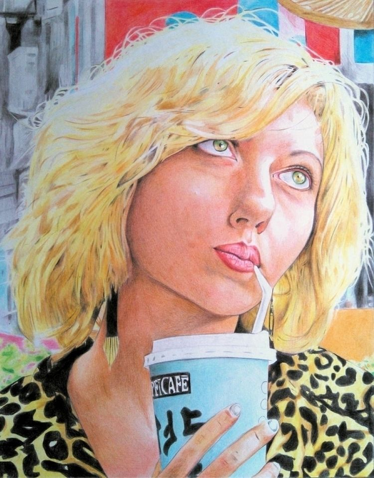 Lucy (2017), coloured pencils o - robertoreyes | ello