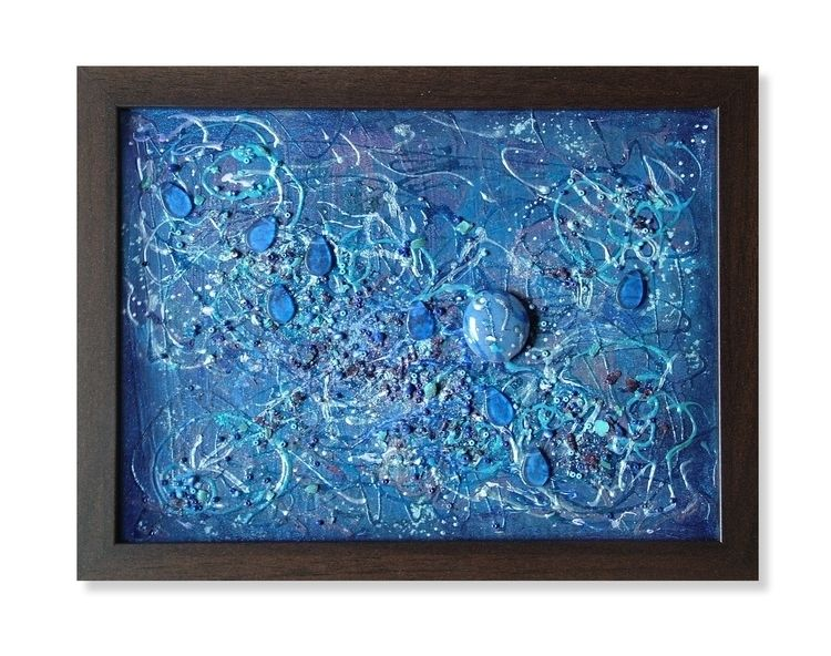 Blue World 31 23,5 cm framed ca - artizmoksa | ello