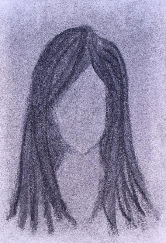 Girl Charcoal paper 10x7 unfram - scpfineart | ello