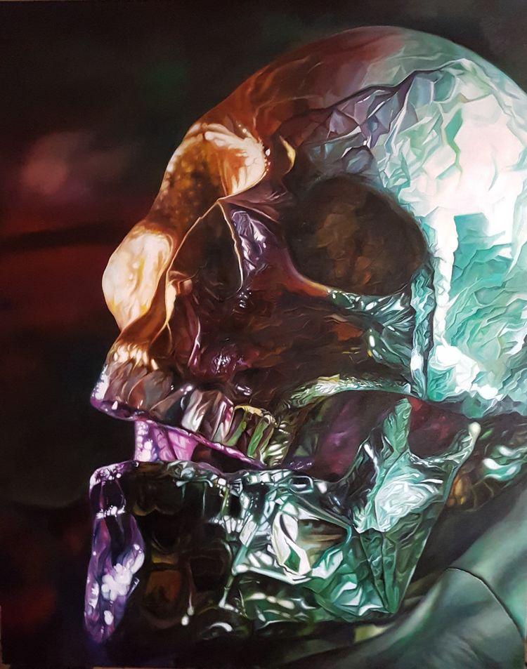 glorious death ....tinfoil skul - scottieford | ello