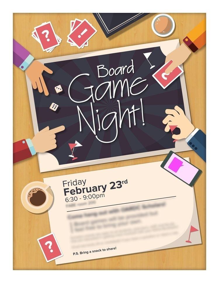 Board Game Event Flyer - BoardGames - whiteb34 | ello
