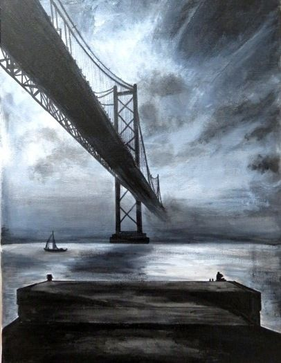 Lisboa (Acryl Canvas - art, arte - katharinawozny   ello