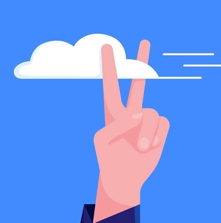 peace, clouds, illustration, illustrator - addgallery | ello