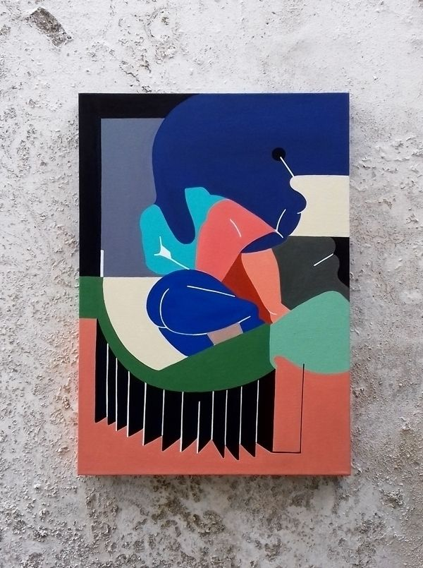 CANVAS 50x70 acrylic canvas - artgallery - moonmambo | ello