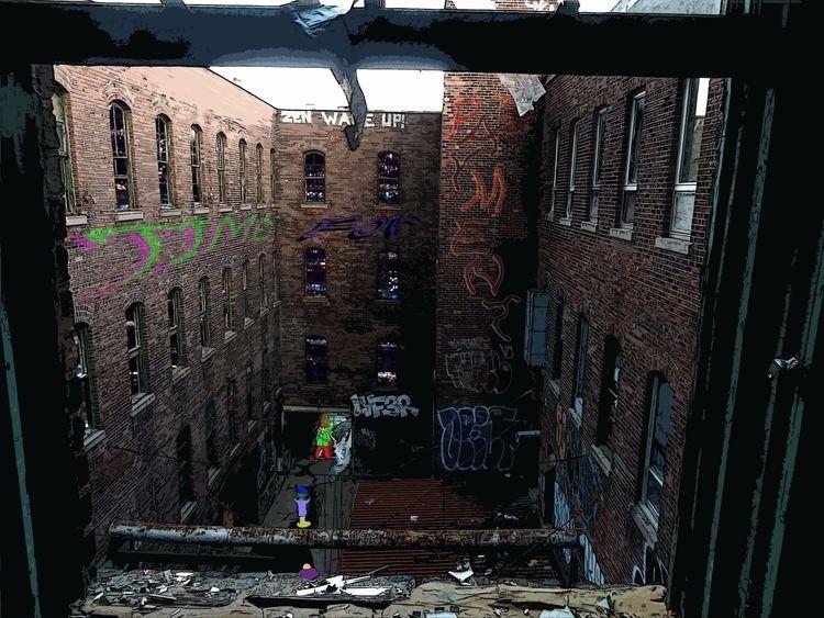 Yard - abandoned, building, yard - mangekkojones | ello