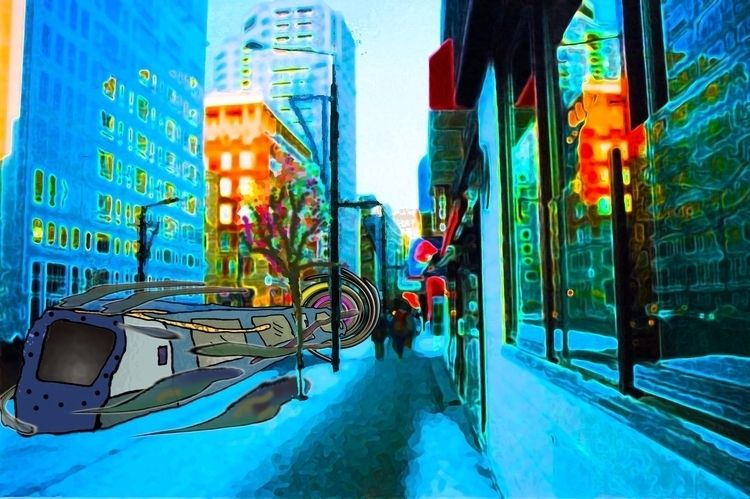 City Street sidewalk - montreal - mangekkojones | ello