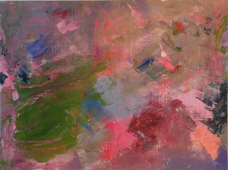 Roses Green 9x12 Oil Canvas Pap - robinccpoole   ello